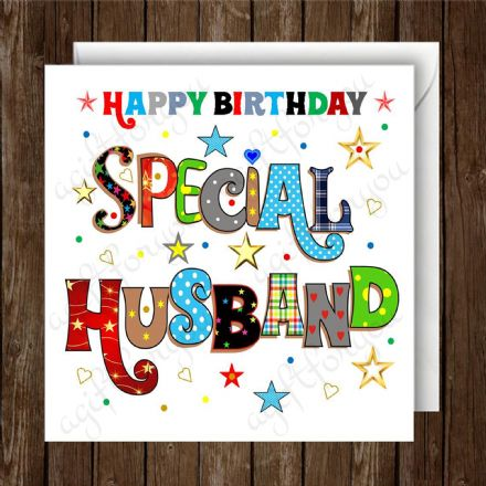 Special Husband Birthday Card